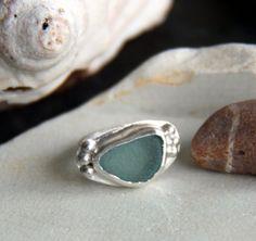 Martha's Vineyard sea glass ring, sterling silver op Etsy, 64,42€