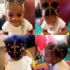 Cute updo on my old Black Girl Hairstyles For Kids Cute Updo Lil Girl Hairstyles Braids, Black Baby Girl Hairstyles, Toddler Braided Hairstyles, Girls Natural Hairstyles, Princess Hairstyles, Birthday Hairstyles, Braids For Kids, Updo, Hair Styles