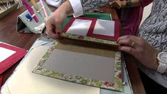 Cartonnage: photo frame. Video tutorial in portuguese, but the step by step is clear.