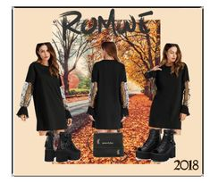 """ROMWE: autumn style"" by armina-saric ❤ liked on Polyvore"