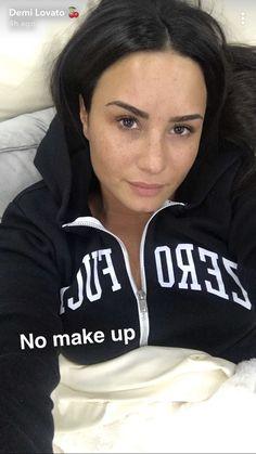 Demi Lovato on snapchat (theddlovato)