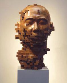 Esculturas analogicamente pixeladas | IdeaFixa