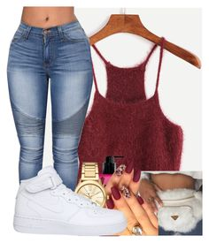 """""""Untitled #2322"""" by kayla77johnson ❤ liked on Polyvore featuring AMOUAGE, Louis Vuitton, Victoria's Secret, Michael Kors and NIKE"""