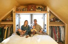 What an awesome closet idea // Jill & Dan's Lighthearted Home — House Tour
