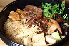 My Grandmother started making Sukiyaki after taking an Oriental cooking class in Seattle.  It has now become our New Year's Eve dish and I think it will also be my birthday request annually.