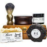 Deluxe Shaving Kit  Shaving Set  Badger Shaving Brush  Shaving Soap Kit  Wood Shaving Set  Vintage Shaving Kit  Mens Christmas Gifts  Wood Shaving Bowl  Mens Gifts  Gifts for Dad  Gifts