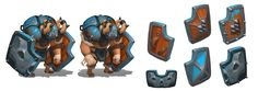 Boom Boom Barbarian character concepts, Moh Z. Mukhtar on ArtStation at https://www.artstation.com/artwork/eDe4Z