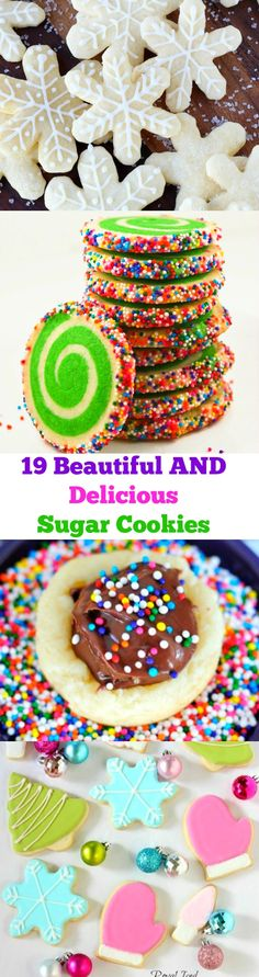 19 Beautiful AND Delicious Sugar Cookies for Christmas!