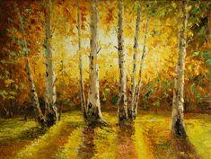 Cuadros modernos, cuadros paisajes, bosques, rios, lagos, Hayedo en otoño