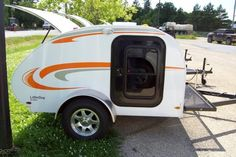 Little Guy Travel trailers Small Travel Trailers, Teardrop Campers, Cool Campers, Camping Life, Caravan, Recreational Vehicles, Guy, Spaces, Products