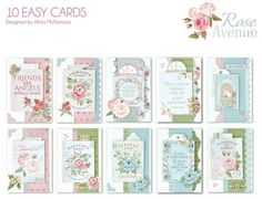 Kaisercraft Classroom Layout Kit – Rose Avenue 10 Card Kit (contains enough product for 10 class participants) ** Note - Where one pack is indicated for eac Kit Rose, Super Cool Stuff, Beautiful Handmade Cards, Rose Cottage, Heartfelt Creations, Card Sketches, Card Kit, Birthday Cards, Gallery Wall