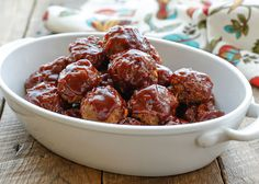 Sweet and Spicy Dirty Meatballs - get the recipe at barefeetinthekitchen.com
