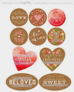 Imprimolandia: Etiquetas para San Valentín
