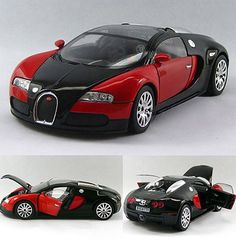 Bugatti Veyron 1:24 Alloy Diecast Limited Edition Model Car Red&Black…