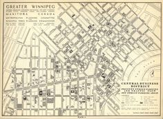 Map of the Greater Winnipeg Business District Parking Map