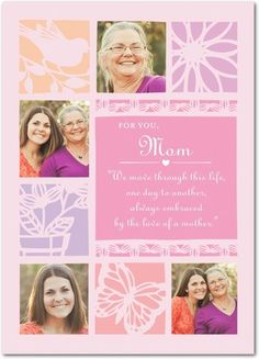 Lovely Embrace - Mother's Day Greeting Cards - Hallmark - Heather - Pink : Front