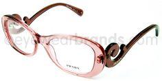 Prada PR 09PV Prada PR09PV CA1101 Pink Designer Glasses From Eyewearbrands