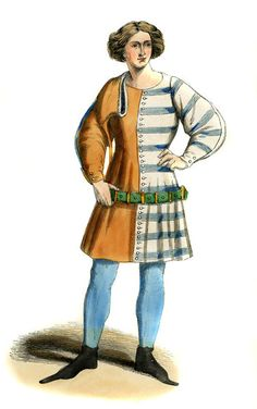 """Young Italian - male costume of 14th century"""