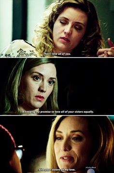 """Delphine: """"It's all of us. You have to love all of us."""" #orphanblack"""
