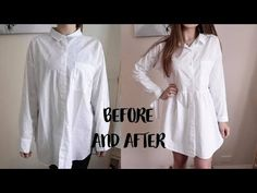 Super Easy Men's Shirt Refashion, Recycle / How to Alter a Men's Shirt in a Dress - Modern Thrift Fashion, Diy Fashion, Punk Fashion, Fashion Dresses, Recycled Mens Shirt, Diy Clothes Refashion, Men's Shirt Refashion, Refashioned Clothes, Jean Diy