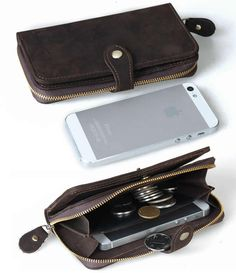 Vintage Leather Wallet -- iPhone 4 4s iPhone 5 5c 5s Purse