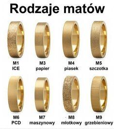 Obrączki ślubne - RODZAJE MATÓW! Wybierzcie odpowiednie dla siebie...