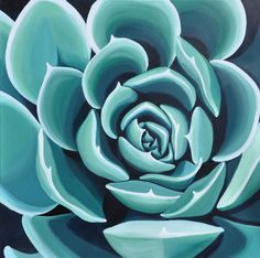 Succulent - painting by Brooke Fischer. To see more work go to www.brookefischer.com