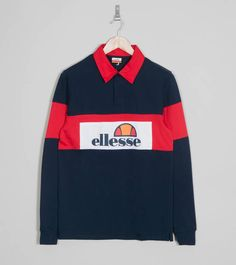 45512082638afd Ellesse Campari Rugby Long Sleeve Shirt Ellesse
