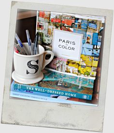 Paris in Color, next to my favorite mug from @Anthropologie .