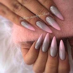 "69 mentions J'aime, 1 commentaires - Iveta (@ivet_nails) sur Instagram: ""#ombre #ombrenails #pinki #pinky #puppy #pignails #phreshink #greynails #grey #swarovskinails…"""