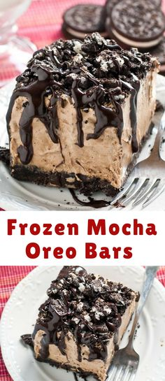 Piled on top of an Oreo crust is an ultra creamy, espresso laced mousse filling that tastes just like an iced mocha in bar form. It's topped with more Oreos and a healthy spoonful (or two) of hot fudge sauce. It's totally no bake, which means you don't even have to turn your oven on to get these dreamy bars in your face.