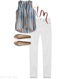 LOVE! And I'm usually not a fan of white jeans!