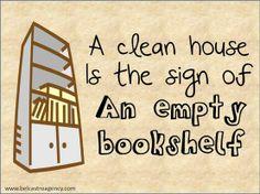 My bookshelves are full....
