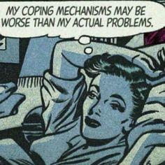 "Comic Girls Say. ""What doesn't kill me, severely disappoints me "" Romance Comics, Bd Comics, Comics Girls, Comic Kunst, Comic Art, Arte Do Pulp Fiction, Pop Art Vintage, Comics Vintage, Vintage Comic Books"
