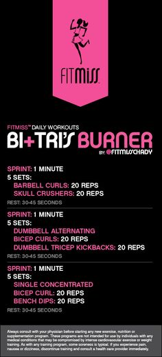 FitMiss Bi's + Tri's Burner Workout