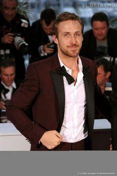Ryan Gosling, débarrassé de son noeud papillon signé Salvatore Ferragamo.