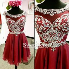 Unique red round neck chiffon beaded sequin short prom dress 2016 for teens, homecoming dress Repin & Like. Hear #NoelitoFlow #Noel Music http://www.twitter.com/noelitoflow http://www.instagram.com/rockstarking http://www.facebook.com/thisisflow