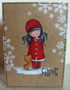 christmas cards made with gorjuss stamps - Google Search