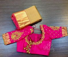 25 Head Turning Pink Blouse Designs To Shop the Best Blouse Back Neck Designs, Cutwork Blouse Designs, Best Blouse Designs, Simple Blouse Designs, Bridal Blouse Designs, Pink Blouse Design, Hand Work Blouse Design, Anarkali, The Best