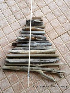 diy driftwood christmas tree More