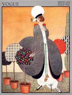 ⍌ Vintage Vogue ⍌ art and illustration for vogue magazine covers -  1 February 1914