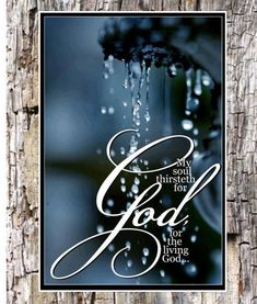 My soul thirsts for the living God. Psalm How true. When we see the universe, the nature around us, do we not hunger for our God. Biblical Quotes, Bible Verses Quotes, Bible Scriptures, Spiritual Quotes, Faith Quotes, Love The Lord, Gods Love, Christian Life, Christian Quotes