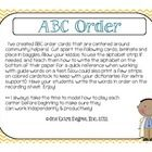 Community Helpers: ABC Order Center {Freebie!} Use this center to practice alphabetizing...community helper style!