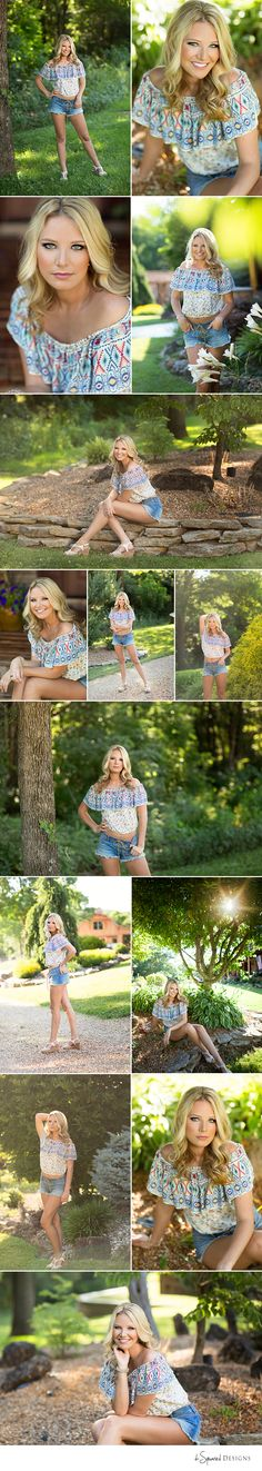 d-Squared Designs St. Louis, MO Senior Photography, Summer senior girl. Gorgeous senior. Summer senior outfit. Country senior girl. Golden hour. Daisy dukes. Senior posing.