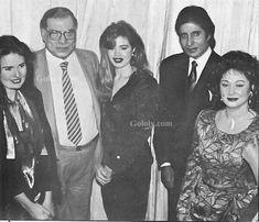 فريد شوقي واميتاب باتشان ونجوم أثناء زيارة اميتاب القاهره وإقامة حفل تكريم،من السفاره الهنديه في التسعينات