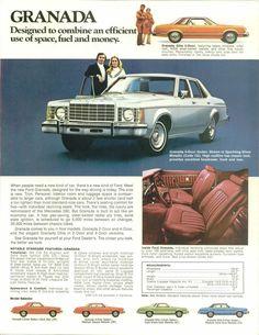 1975 Ford Granada, I was in High School when my folks bought one, dark metallic green