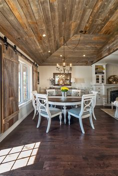 50 Rustic Wooden Flooring Ideas For The New House. Timber flooring can strike just the right note in any style of home – it looks natural, warm and rustic in a country cottage and, in a contemporary. Farmhouse Kitchen Inspiration, Small Farmhouse Kitchen, Farmhouse Interior, Modern Farmhouse Kitchens, Interior Barn Doors, Farmhouse Style, Farmhouse Ideas, Floor Design, House Design