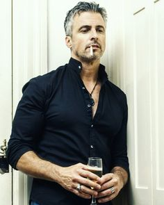 Hot Guys Smoking, Man Smoking, Beautiful Men Faces, Gorgeous Men, Grey Hair Men, Gray Hair, Handsome Older Men, Men Over 40, Hot Dads