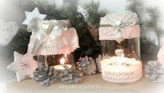 Natale candele shabby chic