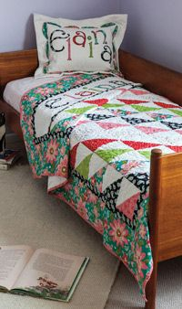 Fons & Porter - Elaina''s Quilt (any name) - Free Quilted Pillow Sham & Quilt Pattern